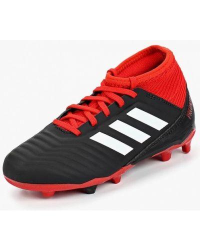Бутсы кожаные черный Adidas