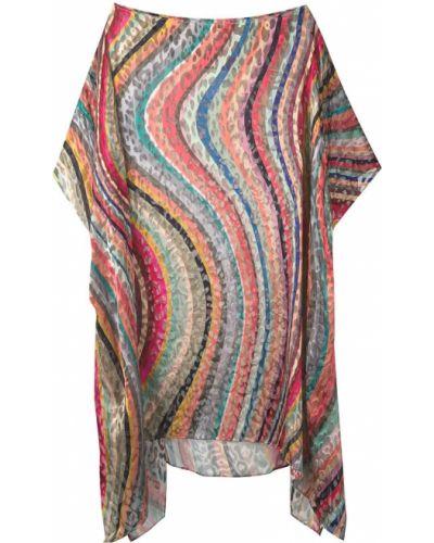 Шелковое платье миди - розовое Paul Smith