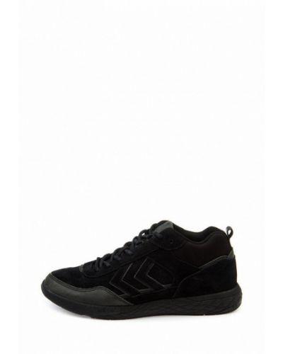 Кожаные кроссовки - черные Hummel
