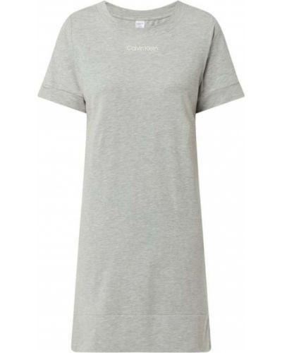 Koszula nocna bawełniana krótki rękaw z printem Calvin Klein Underwear