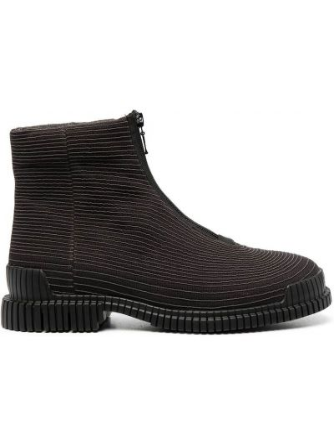 Хлопковые черные ботинки на молнии Camper