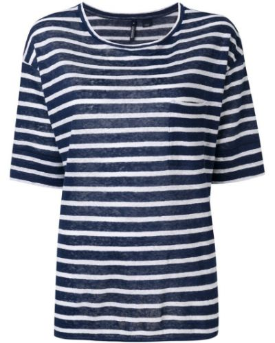 Синяя футболка с узором Woolrich