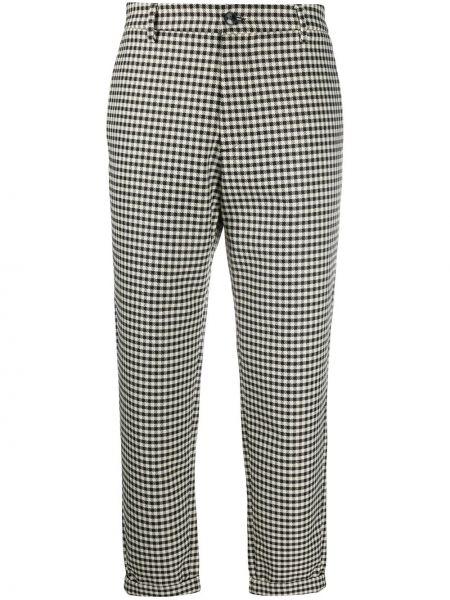 Хлопковые укороченные брюки с потайной застежкой Barena