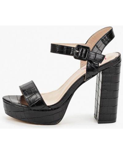 Кожаные черные босоножки Vera Blum