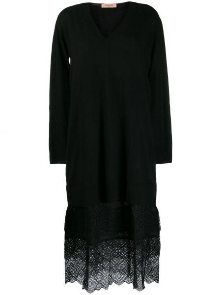 Платье со вставками с V-образным вырезом Twin-set