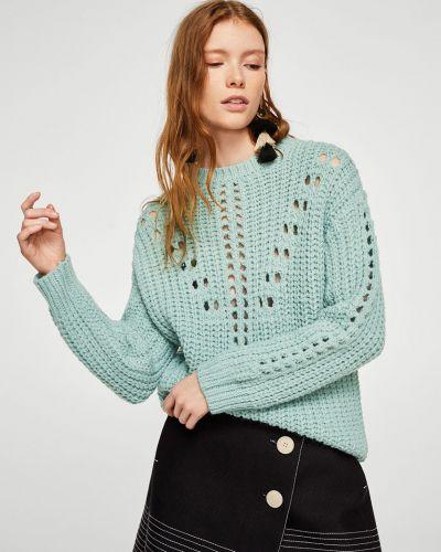 Бирюзовый вязаный свитер Mango