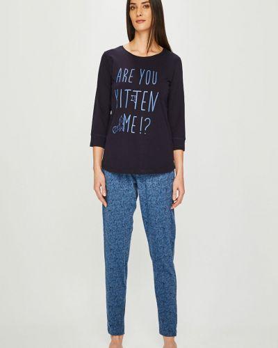 Пижама с брюками с карманами темно-синий Henderson Ladies