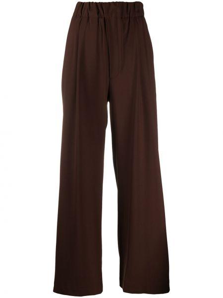Шерстяные коричневые брюки с карманами Jejia