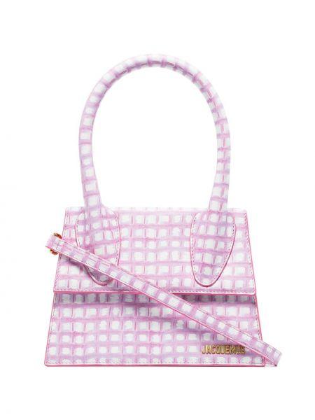 Skórzana torebka na ramię różowa Jacquemus