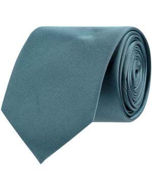 Krawat z jedwabiu turkusowy Calvin Klein
