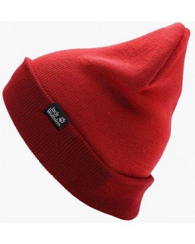 Красная шапка осенняя Jack Wolfskin