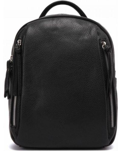 Черный кожаный рюкзак Fabi