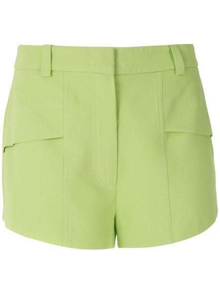 Прямые зеленые шорты из вискозы Nk
