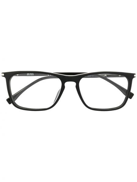 Czarna oprawka do okularów srebrna Boss Hugo Boss