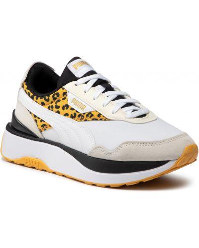 Półbuty sznurowane - białe Puma