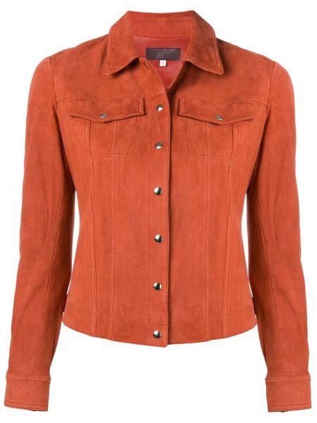 Хлопковая коричневая куртка с воротником Stouls
