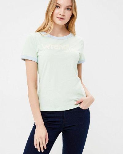 Зеленая футболка Wrangler