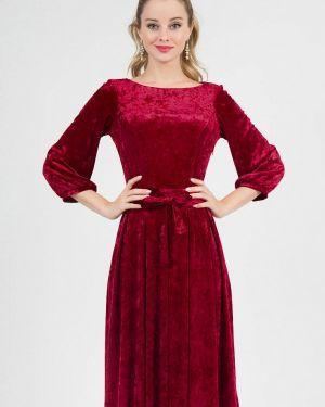 Вечернее платье красный осеннее Marichuell