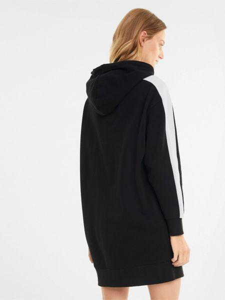 Черное платье с капюшоном в рубчик Puma