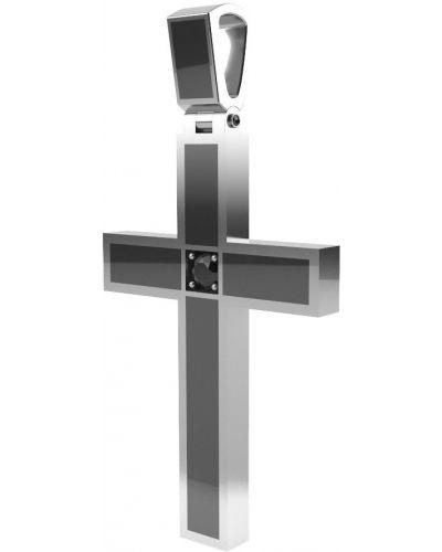 Черный крест с фианитом Graf кольцов