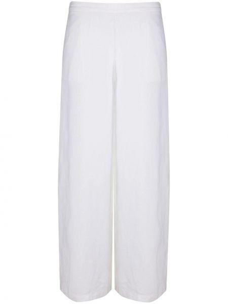 Белые свободные брюки с поясом свободного кроя с высокой посадкой Stefano Mortari