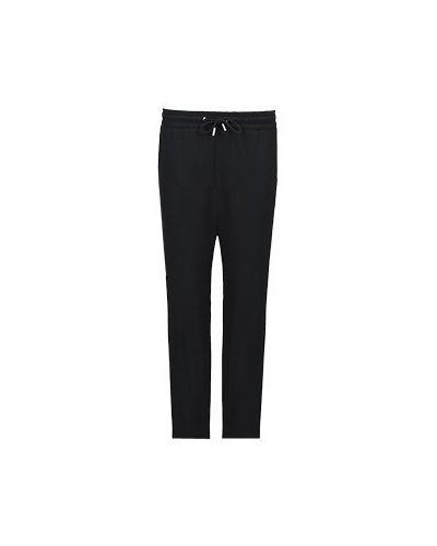 Прямые шерстяные черные брюки Max & Moi
