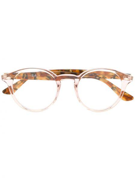 Розовые очки круглые Ray-ban