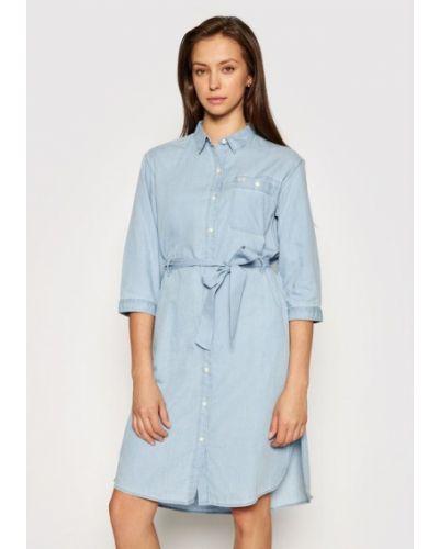 Платье макси длинное - голубое Lee