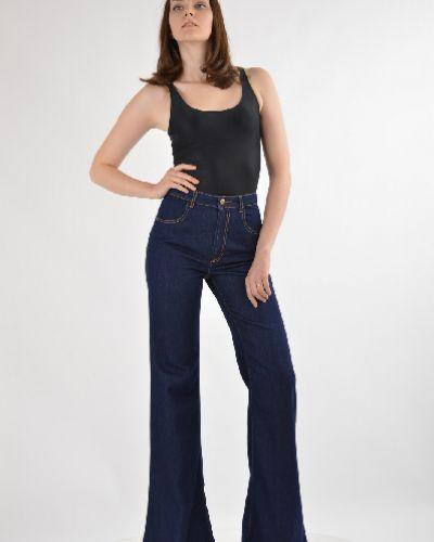 Расклешенные джинсы синие Just Cavalli