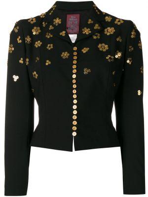Черная короткая куртка с воротником винтажная John Galliano Pre-owned