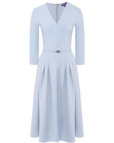 Платье голубой шерстяное Ralph Lauren