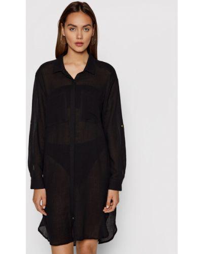 Czarna sukienka plażowa Seafolly