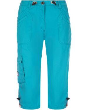 Прямые хлопковые синие пляжные брюки Exxtasy
