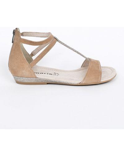 Коричневые сандалии текстильные Tamaris
