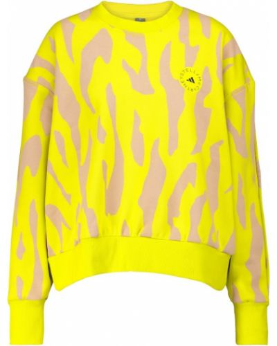Ватный хлопковый желтый свитшот Adidas By Stella Mccartney