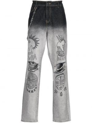 Серые джинсы классические Haculla