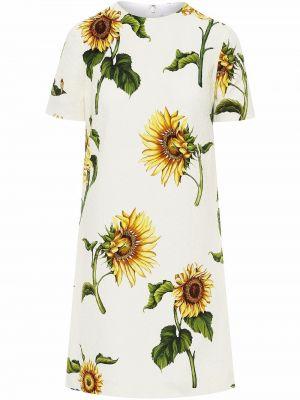 Платье мини короткое - белое Oscar De La Renta