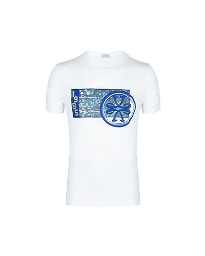 Хлопковая белая футболка Jacob Cohen