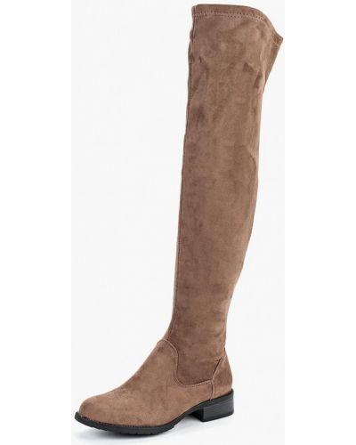 Ботфорты на каблуке замшевые коричневый Coco Perla