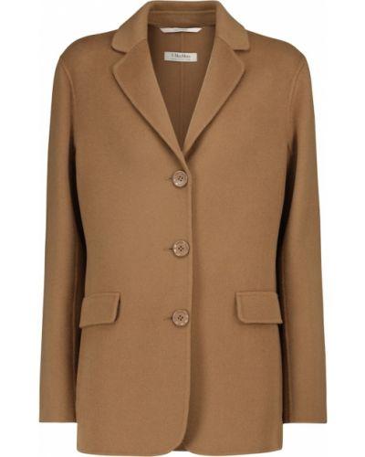 Шерстяная коричневая куртка 's Max Mara