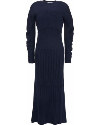Prążkowana sukienka midi rozkloszowana bawełniana Cedric Charlier