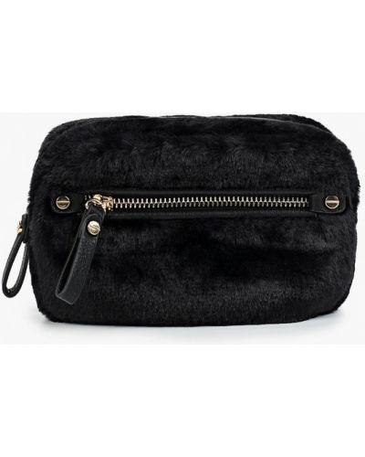 Кожаная сумка поясная черная Aldo