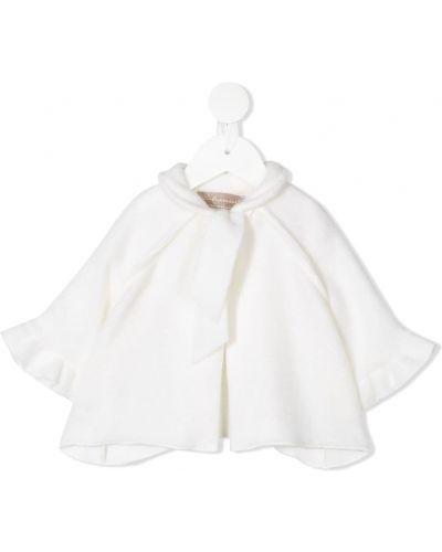 Хлопковая расклешенная белая блузка La Stupenderia