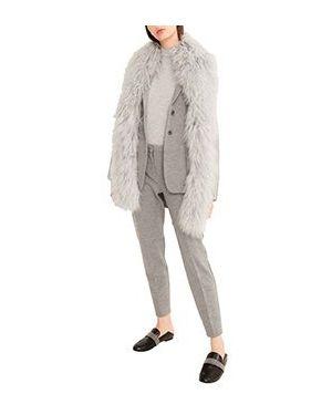 Шерстяной серый костюмный костюм Fabiana Filippi