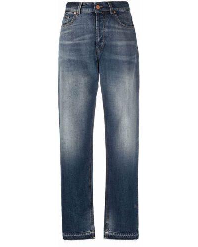 Прямые джинсы классические - синие Pt01