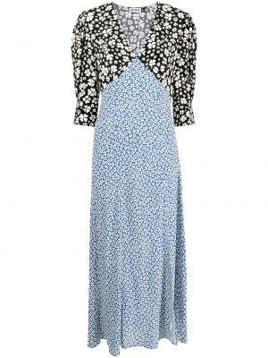 Niebieska sukienka z wiskozy Rixo