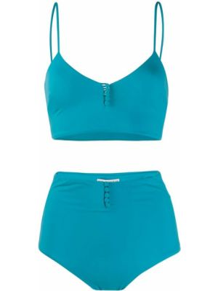 Синий купальник на пуговицах Sian Swimwear