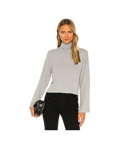С рукавами серый свитер свободного кроя из вискозы Enza Costa