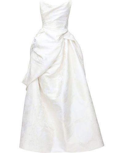Бежевое шелковое платье без бретелек Vivienne Westwood
