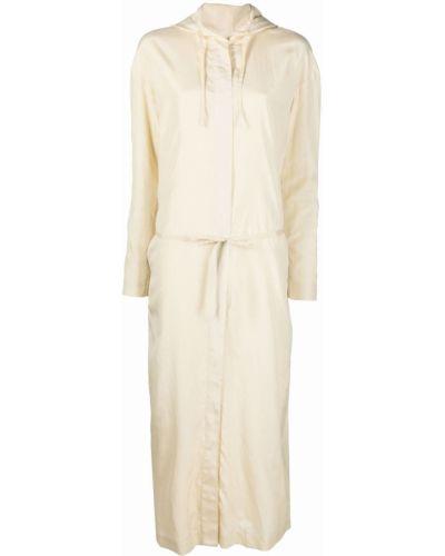 Sukienka długa z długimi rękawami - biała Lemaire